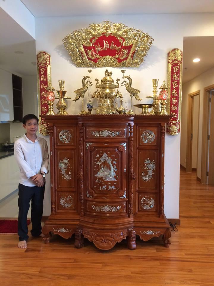 cách bày trí đồ thờ dapha trên bàn thờ gỗ