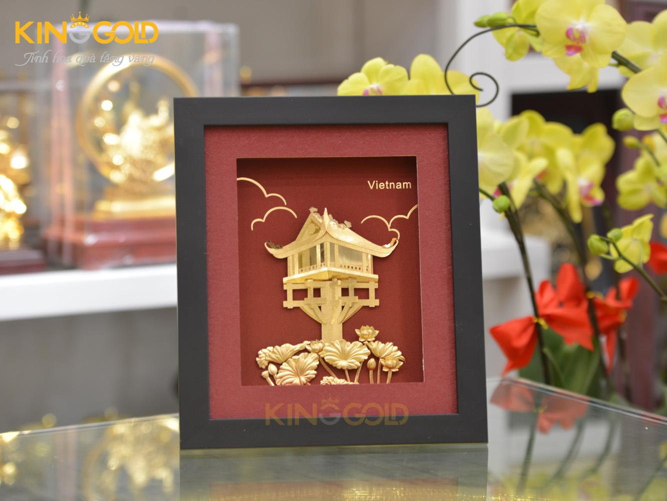 Tranh đồng lưu niệm – quà tặng khách nước ngoài trang trọng